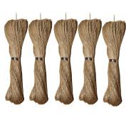 ACMEDE 5Pcs 10M Natural Jute cord Hessian String Sisal for DIY Gardening Scrapbooking etc