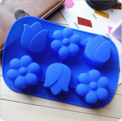 .  3D Cute Tulip Shape Silicone cake chocolate fondant soap silicone mould mould for fondant cake decorating