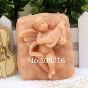 Creativemoldstore 1pcs Playing The Angel (zx0131) Silicone Handmade Soap Mould Crafts DIY Mould
