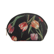Signare Womens Fashion Canvas Tapestry Cosmetic Make-up Bag Floral
