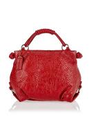 POON Women's Lederhand- / Schultertasche Top-Handle Bag UK One Size
