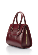 Laura Moretti - Leather handbag with side zippers