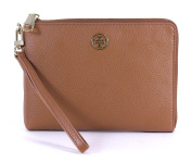 Ladies Tory Burch Landon Large Wristlet Brown