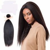 LADYSTAR 36cm - 50cm Brazilian Kinky Straight Fabulous Yaki Virgin Human Hair Estensions Natural Colour