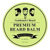 The Gentlemen's Premium Beard Balm Gentlemen's Scent – 60ml – Tame Your Beard With No Greasiness – Make It Look Thicker and Fuller