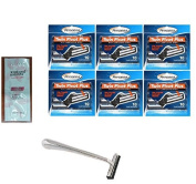 Trac II Chrome Handle + Personna Twin Pivot Plus Razor Cartridges w/ Lubricating Strip for Atra & Trac II Razors 10 ct. (Pack of 6) with FREE Loving Colour trial size conditioner