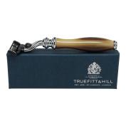 Truefitt & Hill Wellington Razor Faux Horn & Chrome Mach Ill