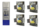 Barc Bump Down Razor Bump Relief, Alcohol-Free, Unscented Lotion, 100ml + Bump Fighter for Men Disposable Razors 4 Ct