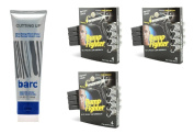 Barc Cutting Up, Unscented Shave Cream, 180ml + Bump Fighter for Men Disposable Razors 4 Ct