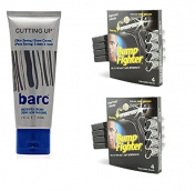Barc Cutting Up, Unscented Shave Cream, 60ml + Bump Fighter for Men Disposable Razors 4 Ct