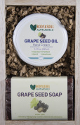 Anti-Oxidant Gift Set - Grape Seed Hand Cream + 2 Natural Grape Seed Soaps by Body & Soul Naturals