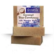 Zatik Coconut & Blue Cornflower Gentle, Hydrating Hand & Face Soap