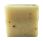 Handmade Natural Goat Milk Soap with Organic Shea Butter - Jewelweed Herb and Oatmeal Exfoliants - Palm Free - 130ml