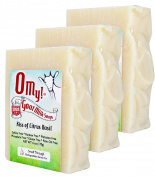 OMy! Goat Milk Soap 180ml Bar - Bundle of 3 - Kiss of Citrus Basil