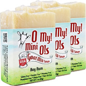 OMy! Goat Milk Soap Mini O! - Bundle of 3 - Bay Rum