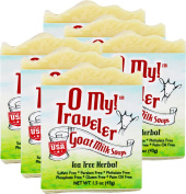 OMy! Goat Milk Soap Travellers - Bundle of 6 - Tea Tree Herbal