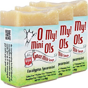 OMy! Goat Milk Soap Mini O! - Bundle of 3 - Eucalyptus Spearmint