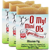 OMy! Goat Milk Soap Mini O! - Bundle of 3 - Mission Fig