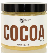 Raw, Unrefined Cocoa Butter, 0.5kg | 100 Percent Pure, Certified Organic & Certified Kosher | Great Body Butter by Raw Apothecary | For Body, Skin & DIY Projects