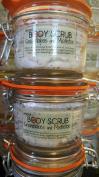 The Natural Sisterhood Snowflakes And Mistletoe Whipped BODY SCRUB - 5. 120ml Glass Hermes Jar