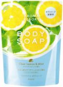KRACIE Aroma Resort Body Soap Lemon Mint Refill, 0.2kg