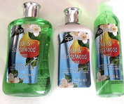 April Pear and Sandalwood Set - Shower Gel, Body Lotion + Body Splash Spray