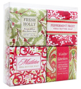 Christmas Holiday Soap Sampler - Gift Boxed Set of 4 Assorted Scents