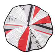 Gesslein 805433000 Parasol for Pushchairs / Buggies with Universal Fitting for Round or Oval Tubes Grey / Red