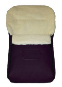 K-90-14 footmuff KAI 90cm FELT FREE PURPLE Lambskin/Acrylic Wool Thermal Footmuff for Buggy Stroller Sled