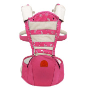 Hip Seat Baby Carrier - Advanced Lumbar Support 6-in-1 ( 6 Position ) , pink