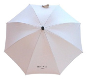 Baby's Clan Parasol for Pushchairs Beige Nylon Adjustable/Detachable