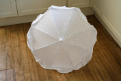 Ninaclip Parasol in White Broderie Anglais