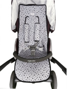Universal Cover Pushchair Luxury Foam Black Star +Protection Harnesses + maxi bib Janabebe®