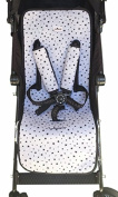 Universal Pushchair Luxury Foam Black Star +Protection Harnesses Janabebe®