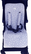 Universal Pushchair Luxury Foam White Star +Protection Harnesses Janabebe®