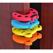 Safety Door Stoppers, Cut Cartoon Animal Foam safety Foam AN-LUKE Cushiony cartoon door clip to Prevent Baby's Fingers from Being Caught in the Door, 6 Packs
