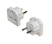 HIGH QUALITY 3-PIN to European 2-Pin Continental Adaptor
