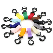 Hipiwe Stroller Hook 12 Pack Multi Purpose Hooks Hanger for Baby Nappy Bags, Purse, Groceries, Clothing, Shopping Bags