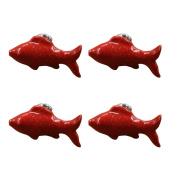 PYD 4PCS Room Drawer Knobs Handle Cute Fish Shape Ceramic Dresser Cabinet Cupboard Wardrobe Pulls Handles Cartoon Knob Furniture Decoration