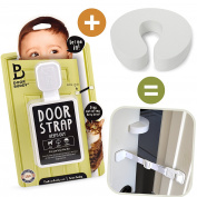 Door Buddy Baby Proof Door Lock Plus Foam Finger Pinch Guard. Keep Baby Out of Room AND Prevent Door From Closing. Cats Enter Easily. No Tools Installation. Easy and Convenient to Use!