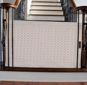 The Stair Barrier - Bannister-to-Bannister Baby/Pet Gate - Regular - Basketweave
