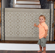 The Stair Barrier - Bannister-to-Bannister Baby/Pet Gate - Regular - Beige Geo