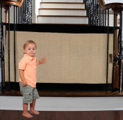 The Stair Barrier - Bannister-to-Bannister Baby/Pet Gate - Regular - Black & Tan
