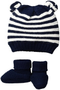 Toby & Company Baby Nygb Mariner's Stripe Hat and Bootie 2 Pc Set