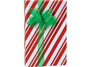 26m Roll Red Candy Stripes Wrapping Paper - 60cm wide - 16sqm