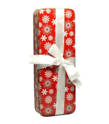 Holiday Gift Tin Box w/Ribbon
