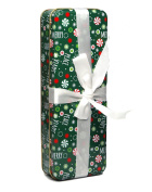Holiday Gift Tin with attached Ribbon
