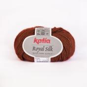 Katia Royal Silk 506 Terracotta 64% Alpaca - 26% Silk - 10% Polyamide 1 Ball 1 Cowl