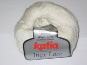 Katia Stainless Steel Lace Wool 25 g 200 Wool-White