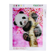 Wivily 5D Diamond Painting Needlework DIY Diamond Painting Cross Stitch Diamond Craft Lovely Panda